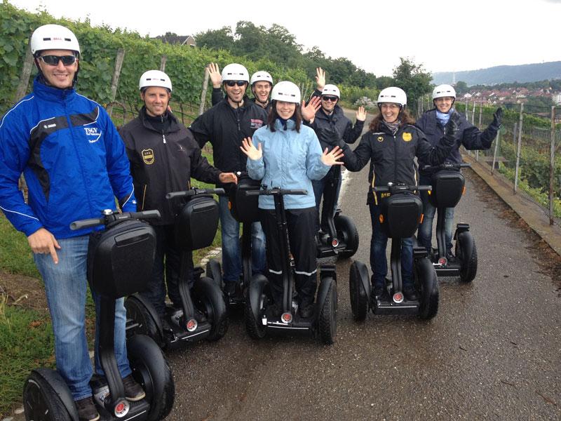 Betriebsausflüge als Segwaytour in Aspach bei Backnang