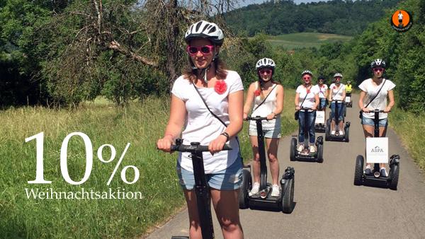 Segwaytouren in Aspach bei Backnang- 10% Rabatt auf alle Touren in unserer Weihnachtsaktion